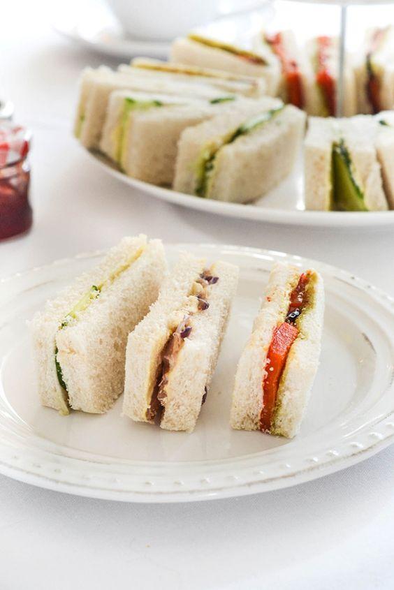 How to serve a vegan afternoon tea: #1 - Vegan Tea Finger Sandwiches  |  WallflowerGirl.co.uk  #vegan