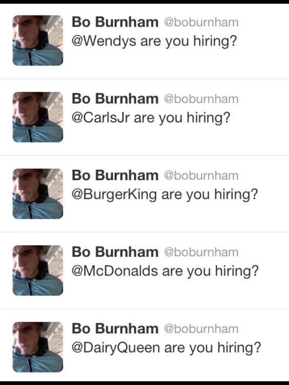 Bo burnham when his MTV show got cancelled Random Odds and Ends - indeed upload resume