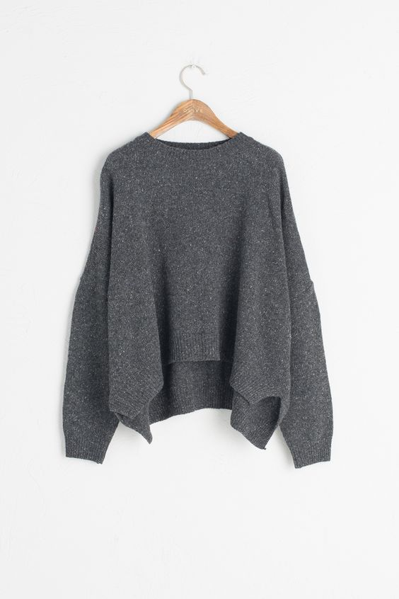 Olive - Boucle Round Neck Jumper, Charcoal, £48.00 (http://www.oliveclothing.com/p-oliveunique-20160921-028-charcoal-boucle-round-neck-jumper-charcoal)
