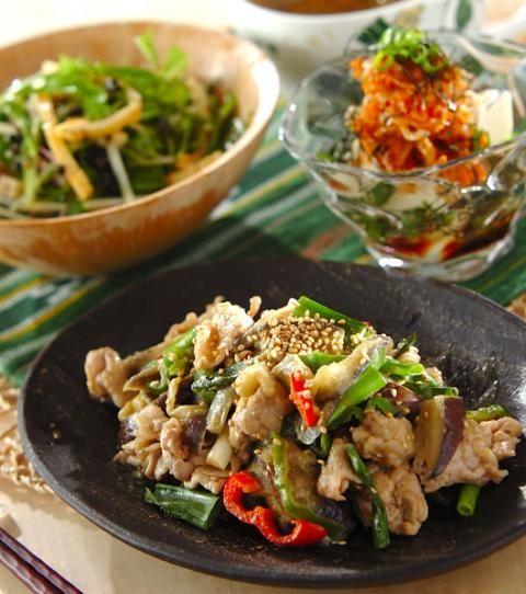 今日の献立は 豚肉とナスのゴマ炒め レシピ 料理 レシピ 豚肉