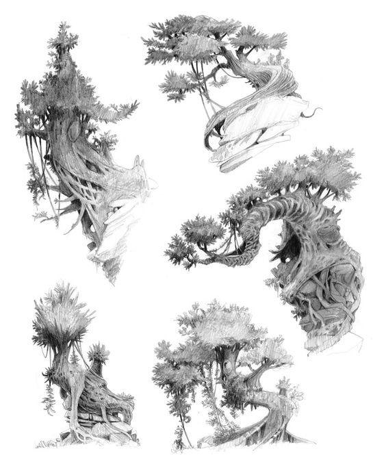 Environment Art by Lekola (Croods Trees)