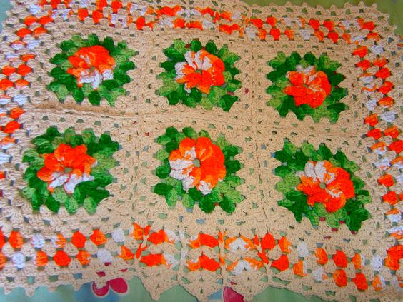 meu primeiro tapete de flores