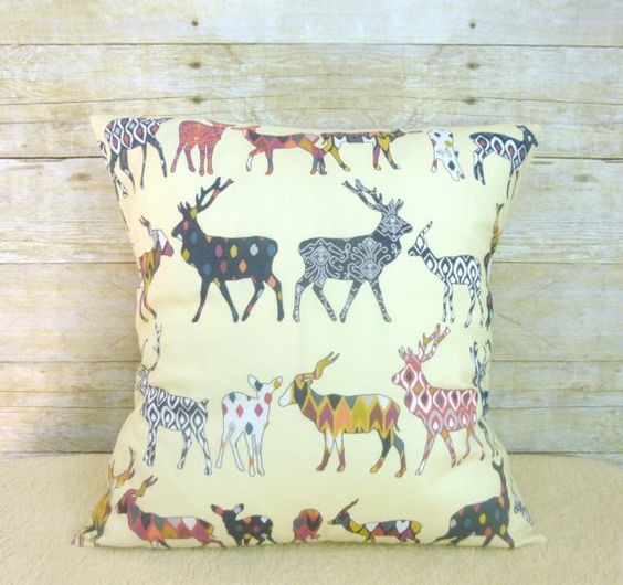 Modern Moose Pillow : Woodland Nursery Pillow, Crib Pillow, Decor Throw Pillow, Decorative Deer, Elk, Moose Pillow ...