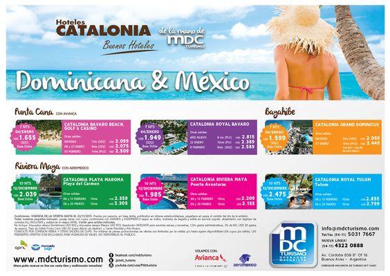 publicidad gráfica para MDC Turismo y Catalonia Hotels