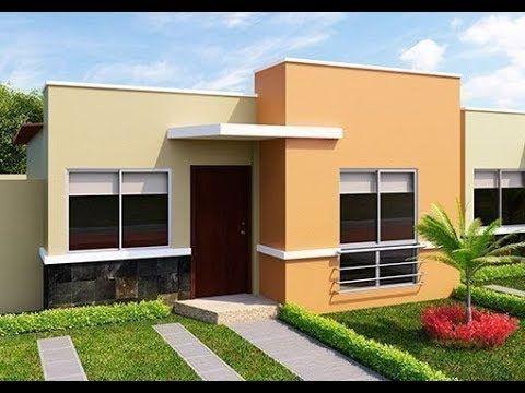 Fachadas De Casas Sencillas Y Modernas Youtube Frentes De Casas Pintadas Pintar Fachadas De Casas Fachada De Casa