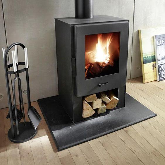 Po le bois e41 8000 w castorama fireplaces pinterest - Castorama poele a bois ...