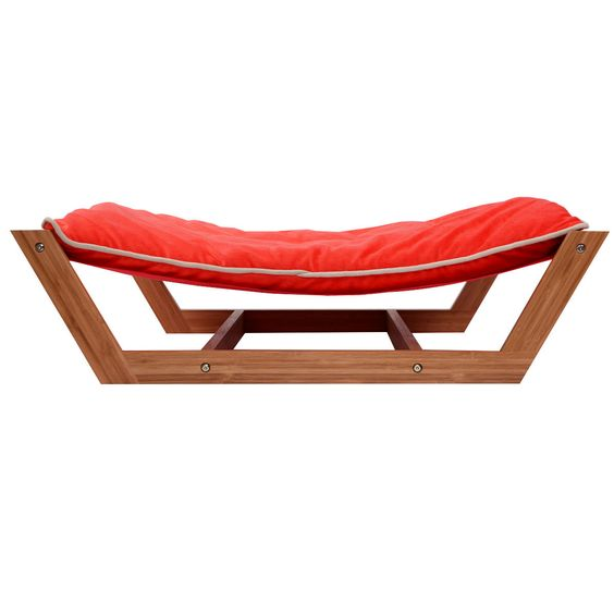 Rectangle Pet Hammock Bed Bamboo Dog Sleeping Pad Cushion\