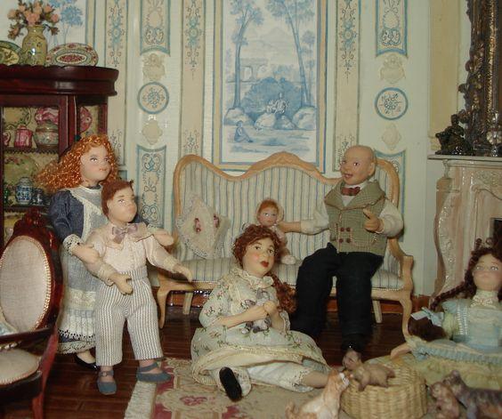 Miniaturas de Almudena González. Niños jugando.