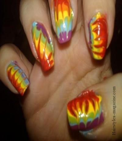 3d dip dye watermarble nail art 2013  Water Marble Nail Art Designs 2013  - epublicitypr.com