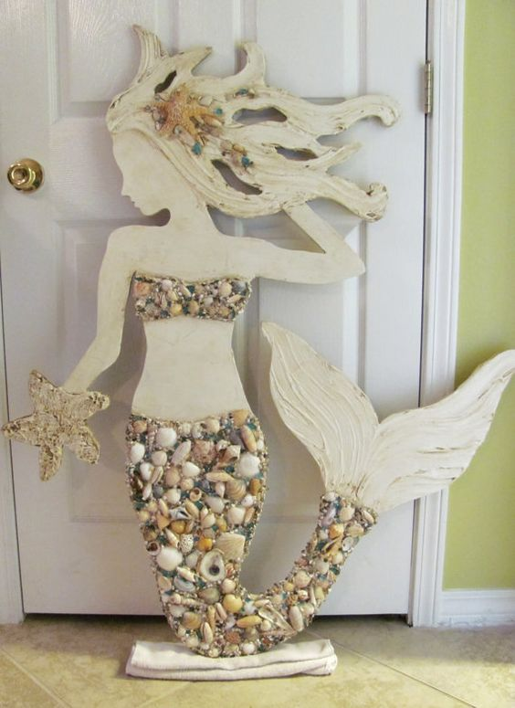 Made to Order Large Hand Made Mermaid Beach by LucyDesignsonline, $400.00