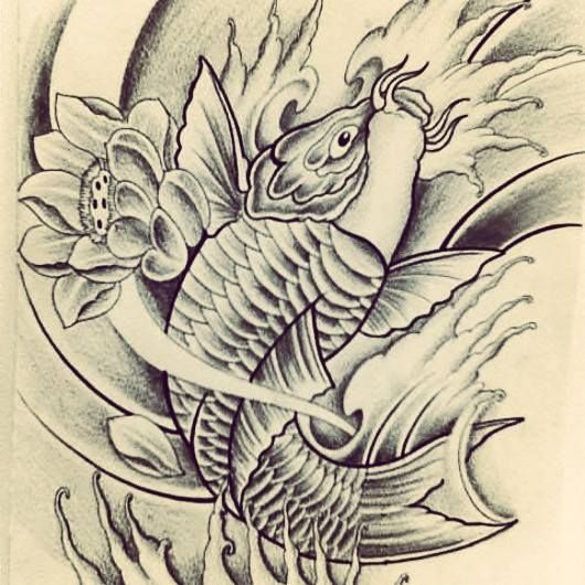 Half sleeve koi fish tattoo design by fingerprint1404 on for Koi fish quotes