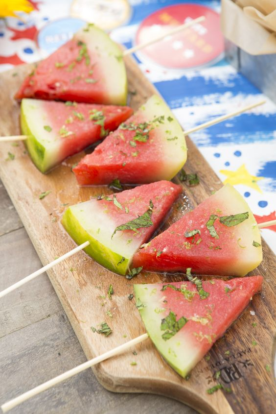 Easy DIY Tequila Infused Watermelon. Perfect food and dessert for your Summer or 4th of July Party.