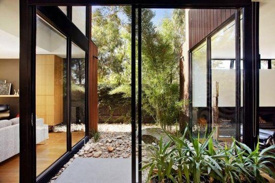 Indoor Garten GlaswandHaus Design  27 main street house  Pinterest