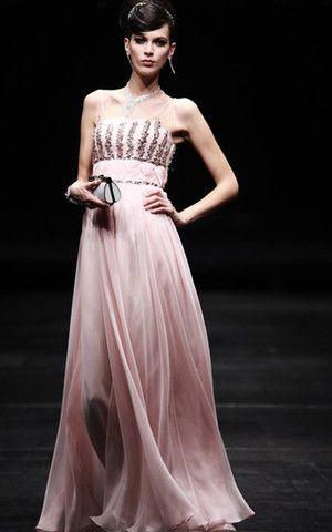 Seide A-Line ärmelloses sexy formelles Abendkleid