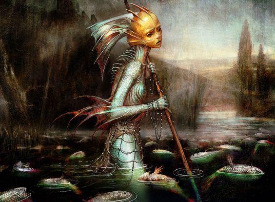 Seb Mckinnon On Twitter Sea Creatures Art Mtg Art Fantasy Paintings