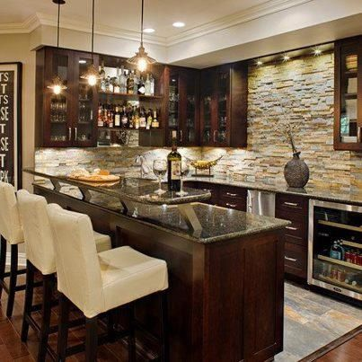 27 basement bars that bring home the good times stove for Bar designs for home in india