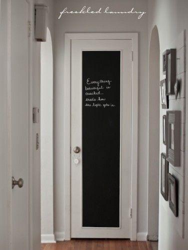 Hallway Chalkboard Door
