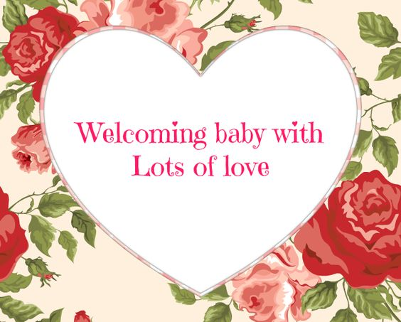 Baby #Shower #Message #Greeting #Card - Welcoming baby with lots ...