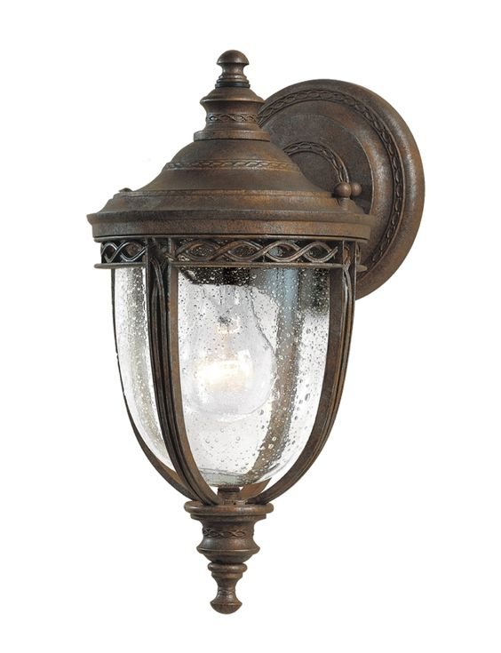 Country manor style wall light British bronze | black Clear seeded glass Height 330mm Width 165mm 60W E27 IP44 $487.00...