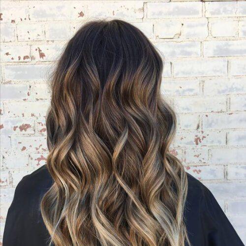 Haare blonde highlights braune Neue Ideen