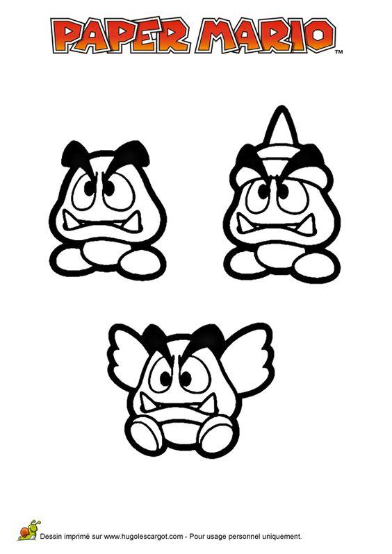 Paper mario and chang 39 e 3 on pinterest - Mario a colorier ...