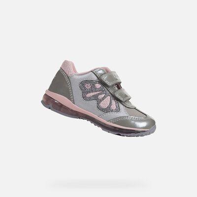 rival mucho competencia  ZAPATOS DE LED BEBÉS GEOX TODO BEBÉ NIÑA   Zapatillas de deporte de chica,  Zapatillas de niñas, Zapatos con luces