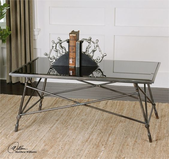 Uttermost Collier Black Glass Coffee Table (24418)