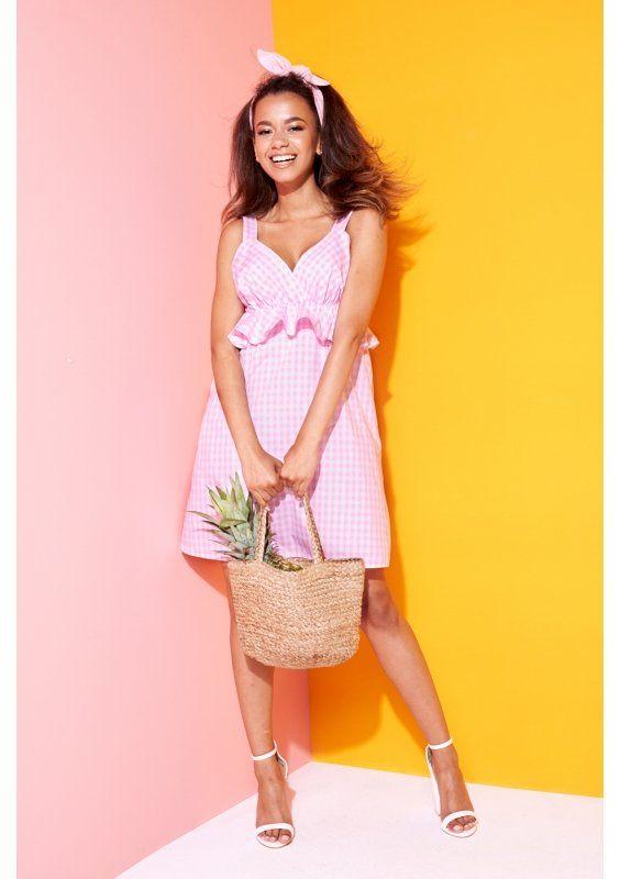 Kopertowa Sukienka W Kwiaty Na Wiosne Dresses Fashion Straw Bag