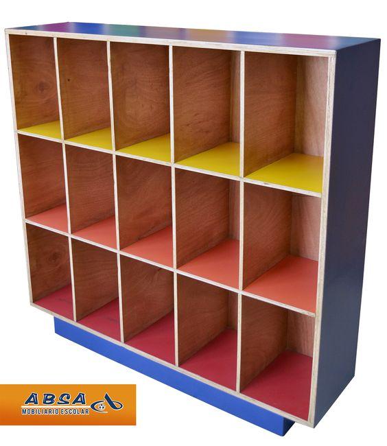 Mueble para loncheras muebles salon pinterest for Muebles para preescolar