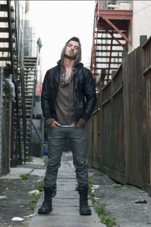 jacket w. hoodie & combat boots | Men's fashion,watches n more ...