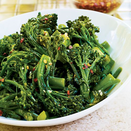 Pan-Steamed Broccoletti by wegmans.com #Broccoletti