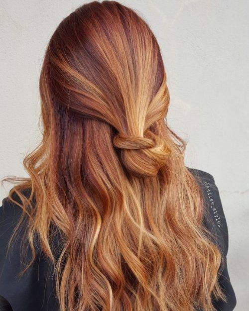 Dark Red Hair With Bleach Blonde Highlights Red Blonde Hair Red Hair With Blonde Highlights Natural Red Hair