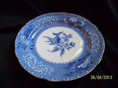 Spode Copeland Camilla Dinner Plate Blue Vintage England Dinnerware