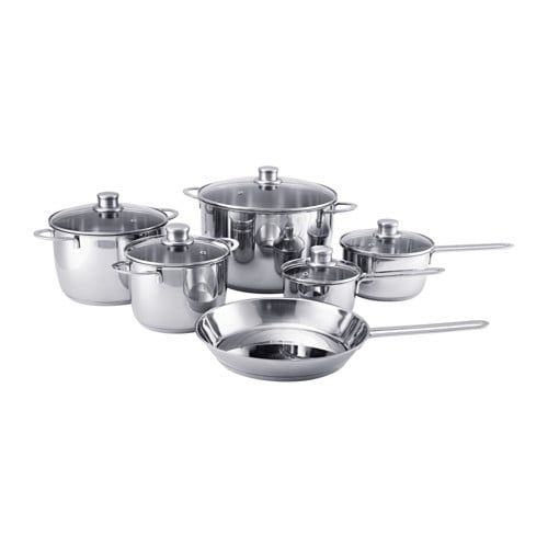Ikea Polerad Stainless Steel 11 Piece Cookware Set Tyler S