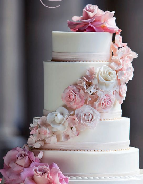 Love the pink..: Decorating Idea, Married Cakes, Blush Wedding Cakes, Pink Cakes, Flower Cakes, Cakes Cakes, Beautiful Cakes, Magnificent Cakes