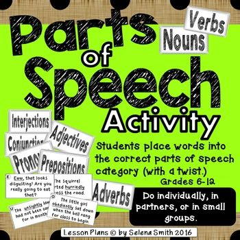Parts of Speech Activity is a challenging and fun, hands-on practice review…