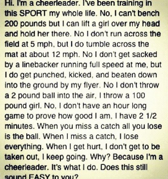 Cheerleading isnt a sport essay