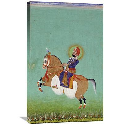 Global Gallery 'Equestrian Portrait of Maharana Sarup Singh' by Shiva Painting Print on Wrapped Canvas