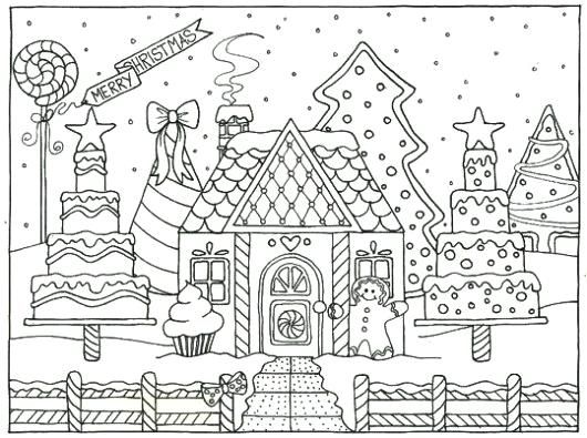 Gingerbread House Coloring Page Outstanding Gingerbread House Coloring Pages For Gallery Ideas Wi House Colouring Pages Christmas Coloring Pages Coloring Pages