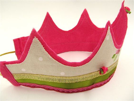 Felt and fabric crowns for parties