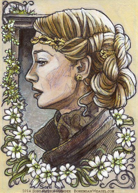 Éowyn in simbelmynë, by Soni Alcorn-Hender