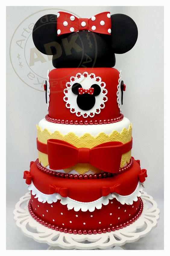Facebook Ony Cake Decor : Minnie Mouse birthday cake party ideas decorations favors ...