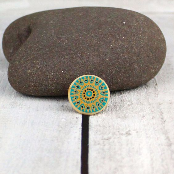 diddy little wooden ring - hand painted and hand drawn by me, Sarah Fitton, of Ditsy Bird Designs