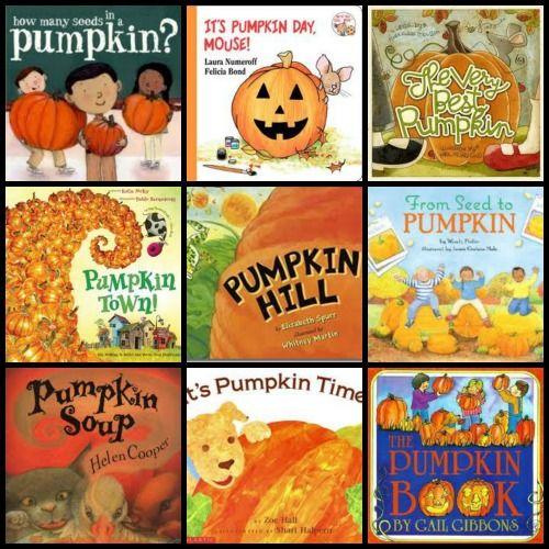 Books for the pumpkin patch, math, baking day and seasonal fun! #kidslit #pumpkins