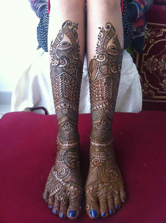 Bridal Mehndi For Leg : Bridal henna design best mehndi in the world