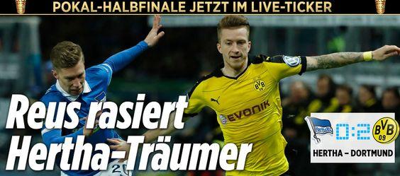 Hertha - Dortmund im Live-Ticker http://sportdaten.bild.de/sportdaten/livekalender/fussball/dfb-pokal/ma2410472/hertha-bsc_borussia-dortmund/direkter-vergleich/