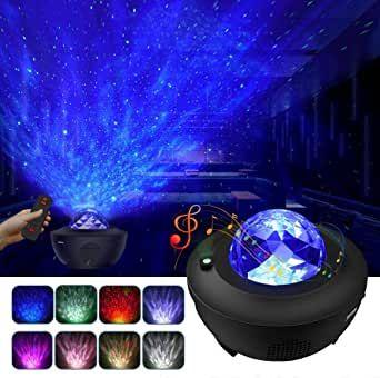 LED Projektor Sternenhimmel Lampe mit Wasserwellen-Welleneffekt Lautsprecher