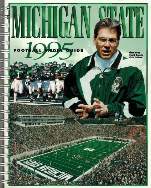 Michigan State Football 1995 Media Guide 1995 Msu Surplus Store In 2020 Michigan State Football Michigan State Michigan