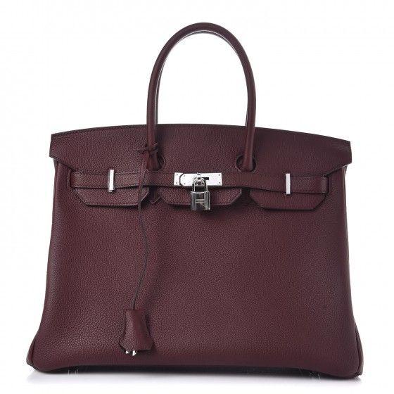 Hermes Bordeaux Togo Birkin 35 | Birkin, Luxe handbags, Hermes