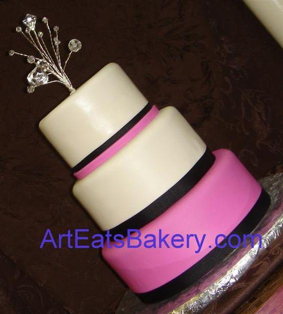Black, White and Pink Cake